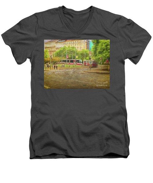 Going Slowly Round The Bend Men's V-Neck T-Shirt