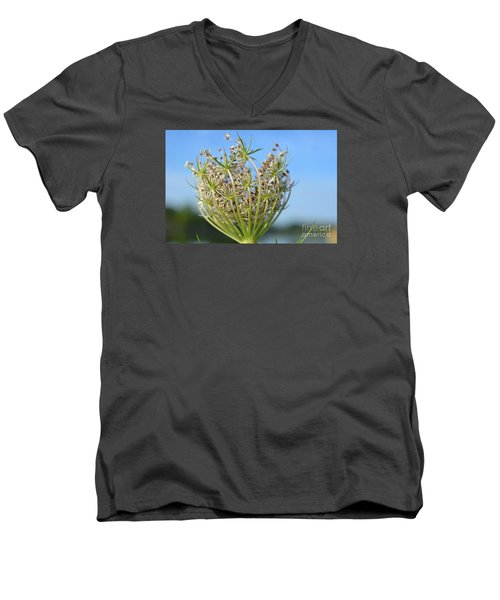 Men's V-Neck T-Shirt featuring the photograph Going To Seed by Lila Fisher-Wenzel
