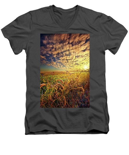 Going To Sleep Men's V-Neck T-Shirt by Phil Koch