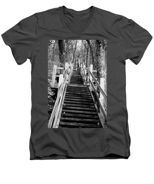 Going Up Men's V-Neck T-Shirt by Jamie Lynn