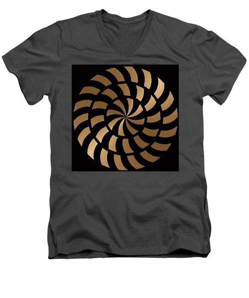 Gold And Black Ny Design Men's V-Neck T-Shirt