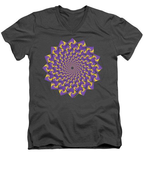 Gold And Purple Circle Of Diamonds Men's V-Neck T-Shirt