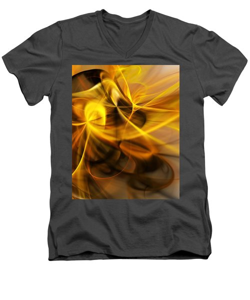 Gold And Shadows Men's V-Neck T-Shirt