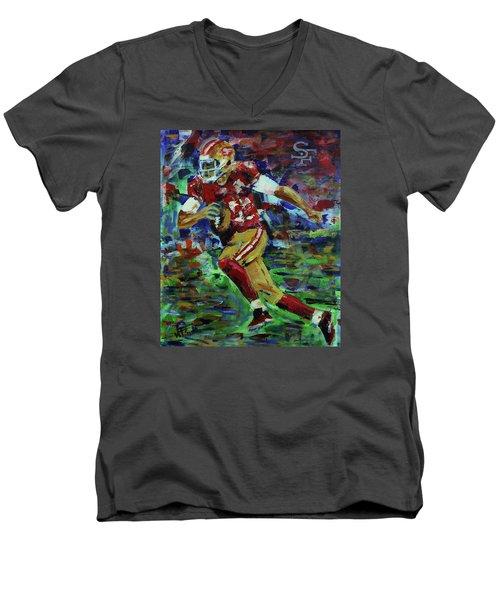 Gold Blooded 49ers Men's V-Neck T-Shirt