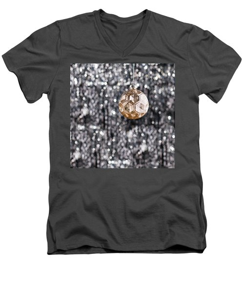 Men's V-Neck T-Shirt featuring the photograph Gold Christmas by Ulrich Schade