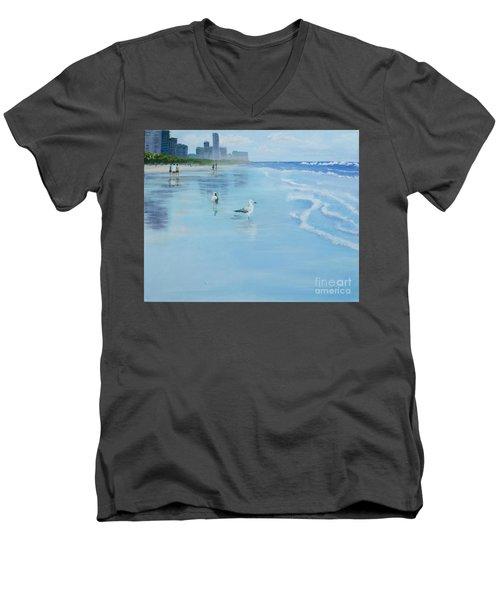 Gold Coast Australia, Men's V-Neck T-Shirt by Genevieve Brown