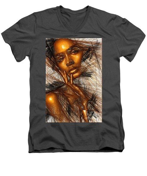 Gold Fingers Men's V-Neck T-Shirt