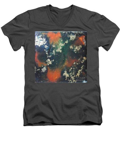 Gold Flecked Men's V-Neck T-Shirt