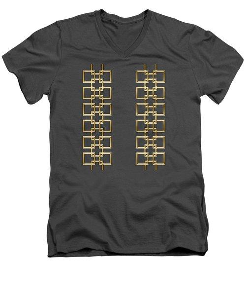 Gold Geo 5 - Chuck Staley Design Men's V-Neck T-Shirt