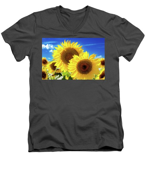 Men's V-Neck T-Shirt featuring the photograph Gold by Greg Fortier