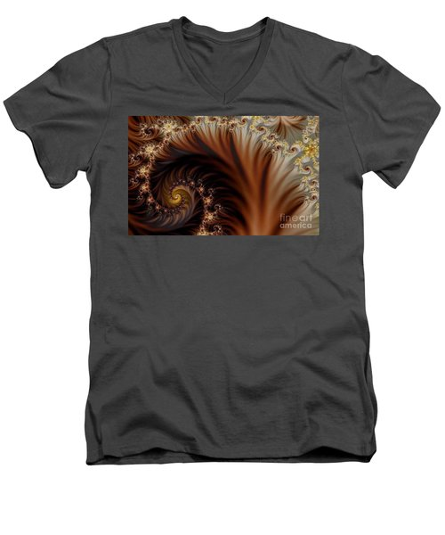 Gold In Them Hills Men's V-Neck T-Shirt by Clayton Bruster