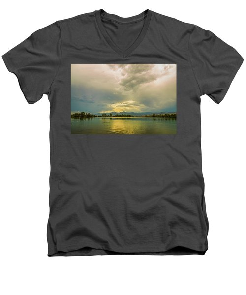 Men's V-Neck T-Shirt featuring the photograph Golden Afternoon by James BO Insogna