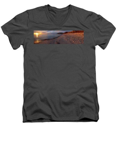 Golden Beach Men's V-Neck T-Shirt