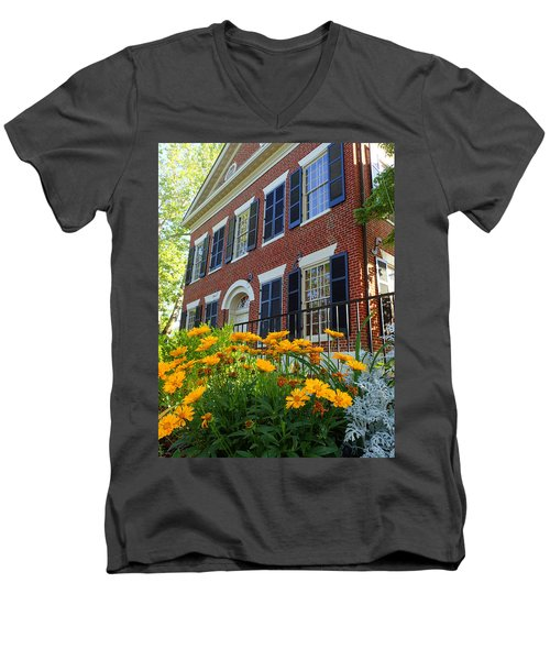 Golden Blooms At The Dahlonega Gold Museum Men's V-Neck T-Shirt
