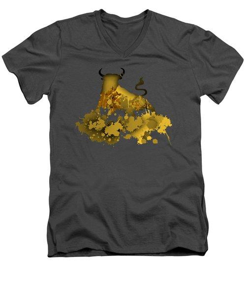 Golden Bull Men's V-Neck T-Shirt