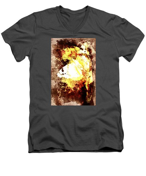 Golden Butterfly Men's V-Neck T-Shirt by Andrea Barbieri