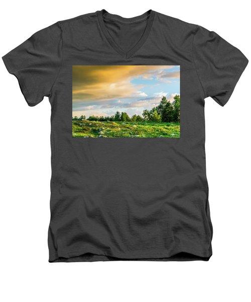 Golden Clouds Men's V-Neck T-Shirt