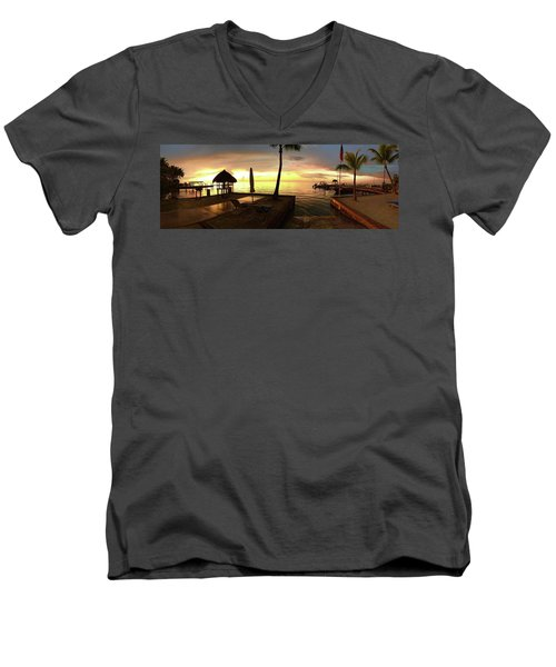 Golden Dream Men's V-Neck T-Shirt by Steven Lebron Langston