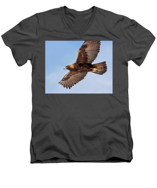 Golden Eagle Flight Men's V-Neck T-Shirt
