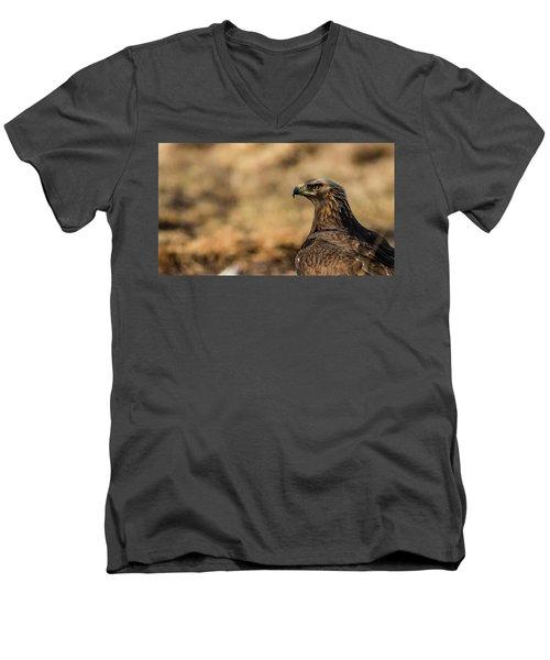 Golden Eagle Men's V-Neck T-Shirt by Torbjorn Swenelius