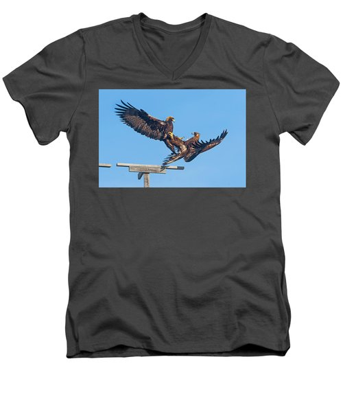 Golden Eagle Courtship Men's V-Neck T-Shirt