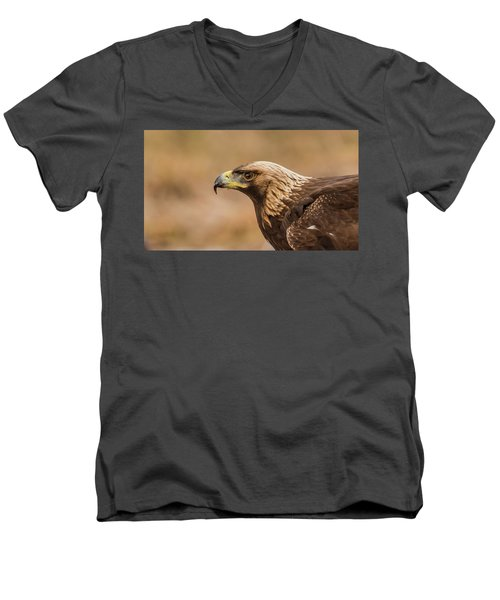 Men's V-Neck T-Shirt featuring the photograph Golden Eagle's Portrait by Torbjorn Swenelius