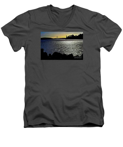Golden Gate Bridge 2 Men's V-Neck T-Shirt