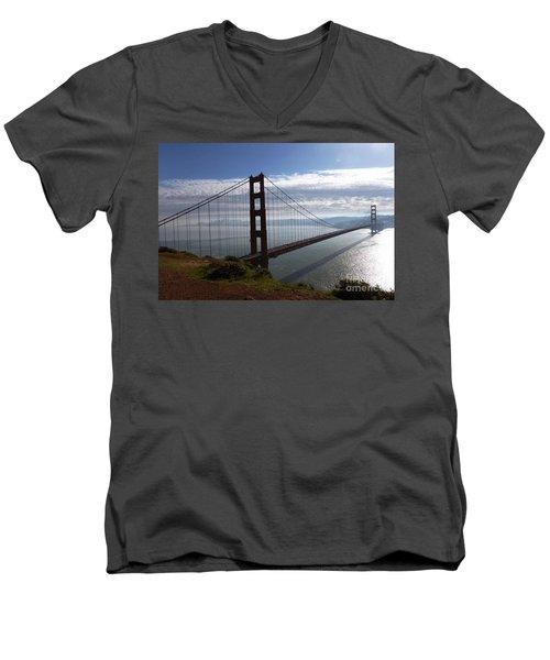 Golden Gate Bridge-2 Men's V-Neck T-Shirt