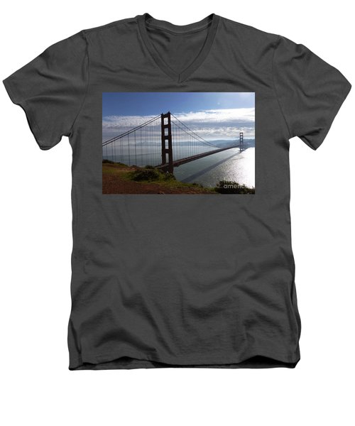 Golden Gate Bridge-2 Men's V-Neck T-Shirt