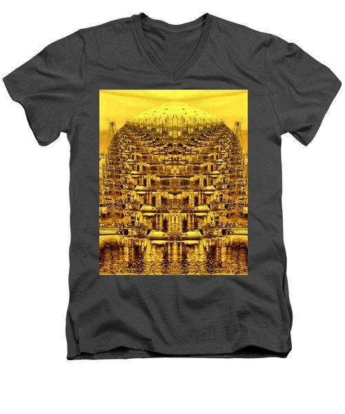 Golden Globe Men's V-Neck T-Shirt by Bob Wall