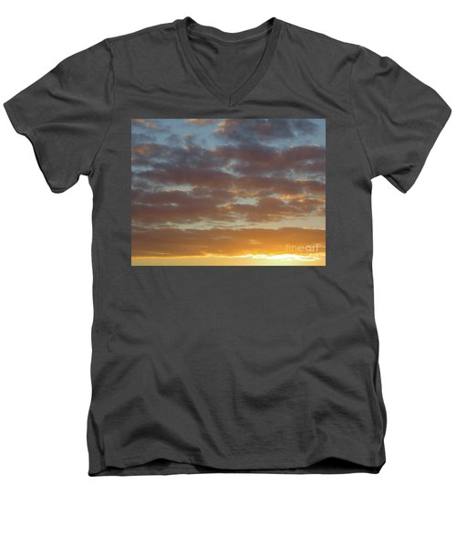 Golden Glow Florida Sunset. Men's V-Neck T-Shirt