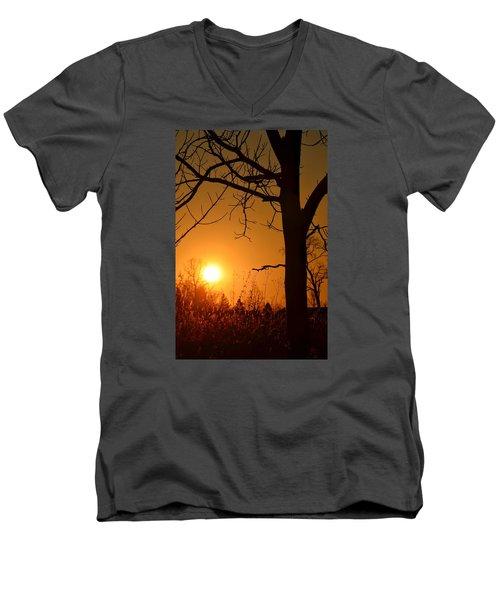 Golden Hour Daydreams Men's V-Neck T-Shirt by Nikki McInnes