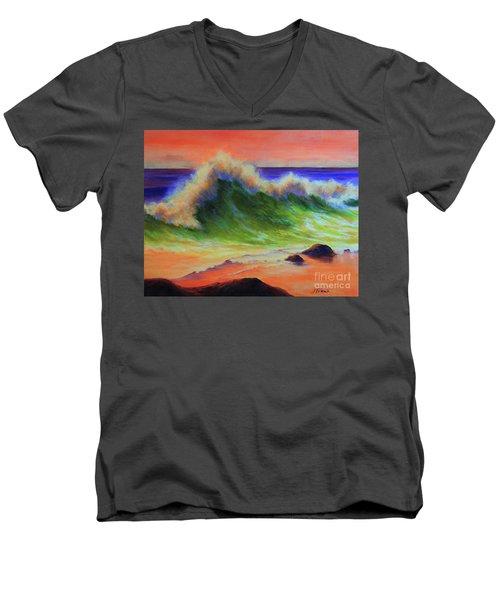 Golden Hour Sea Men's V-Neck T-Shirt