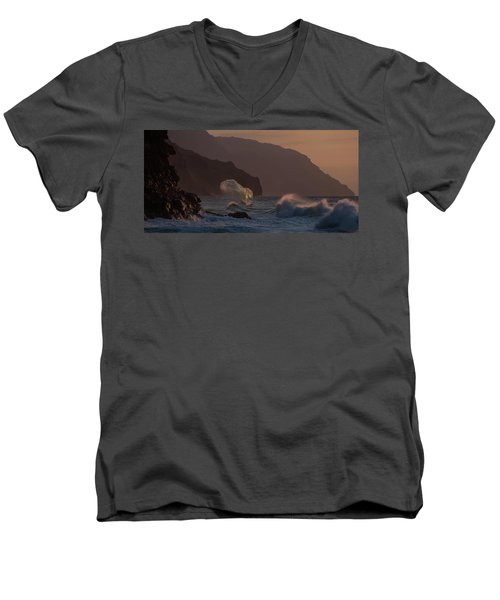 Golden Hour Wave Men's V-Neck T-Shirt