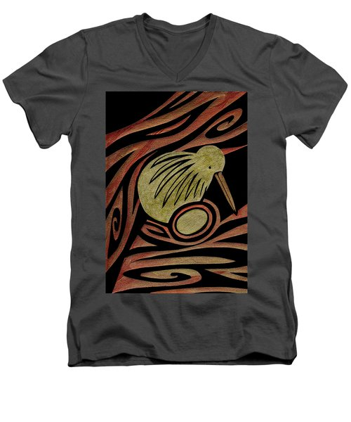Golden Kiwi Men's V-Neck T-Shirt