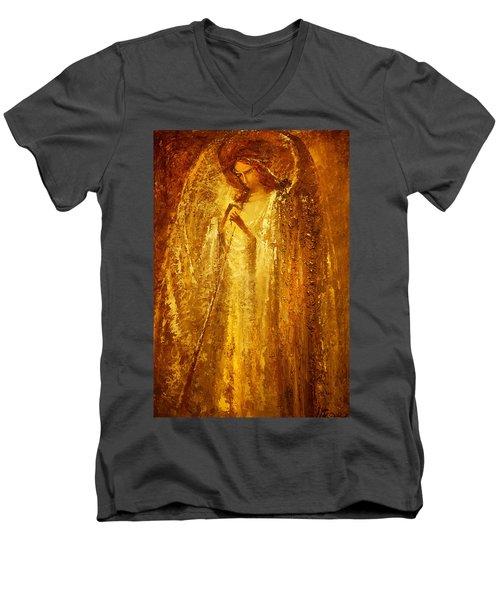 Golden Light Of Angel Men's V-Neck T-Shirt