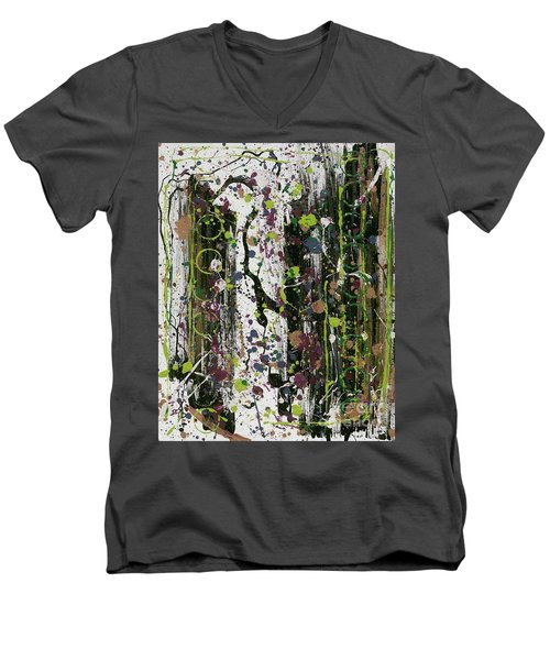 Golden Lime Royal Purple Dreams Men's V-Neck T-Shirt by Talisa Hartley