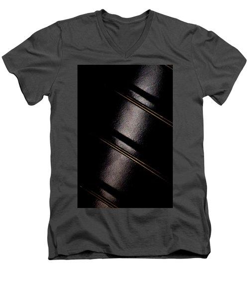 Men's V-Neck T-Shirt featuring the photograph Golden Line by Paul Job