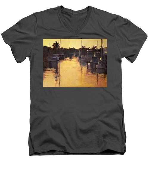 Golden Marina 1 Men's V-Neck T-Shirt