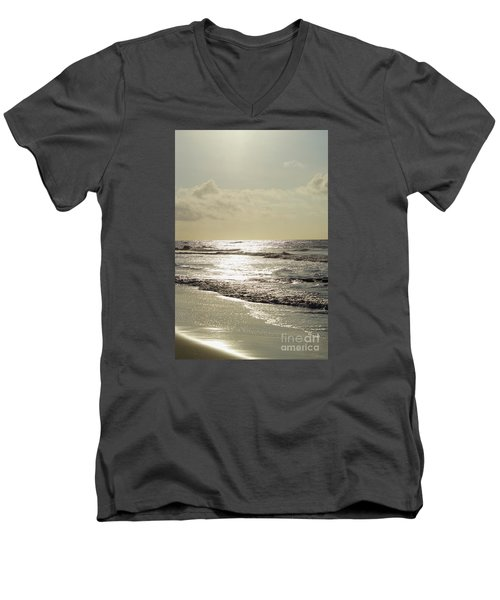 Golden Morning At Folly Men's V-Neck T-Shirt