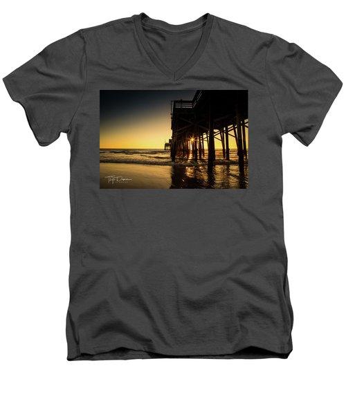 Golden Pier  Men's V-Neck T-Shirt