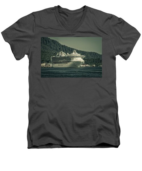 Men's V-Neck T-Shirt featuring the photograph Golden Princess  by Timothy Latta