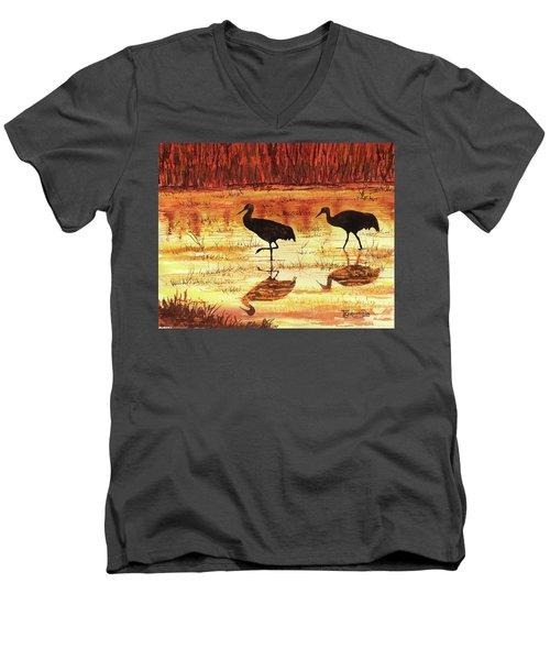 Golden Reflections Men's V-Neck T-Shirt