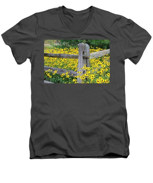 Golden-rod  Crowd Out Men's V-Neck T-Shirt