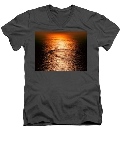 Golden Sea In Alanya Men's V-Neck T-Shirt