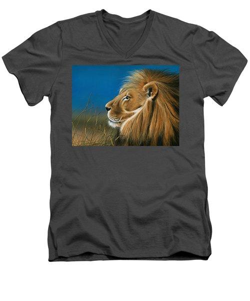 Golden Sentinal Men's V-Neck T-Shirt