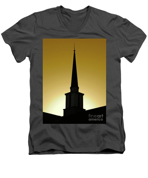 Golden Sky Steeple Men's V-Neck T-Shirt