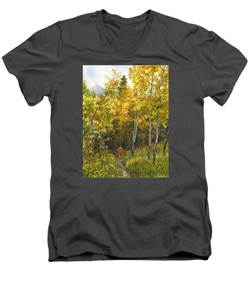 Golden Solitude Men's V-Neck T-Shirt