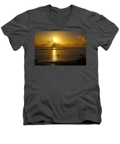 Golden Sunrise Men's V-Neck T-Shirt