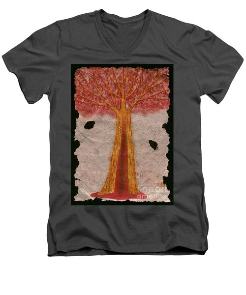 Golden Trees Crying Tears Of Blood Men's V-Neck T-Shirt by Talisa Hartley